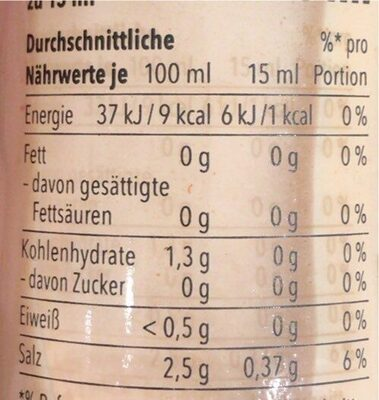 Iooo Island Dressing - Nutrition facts - de