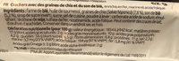 Chia Cracker - Ingredienti - fr
