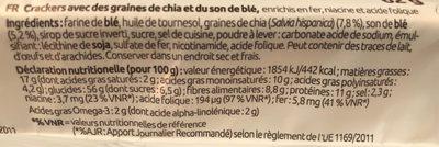 Chia Cracker - Informazioni nutrizionali - fr