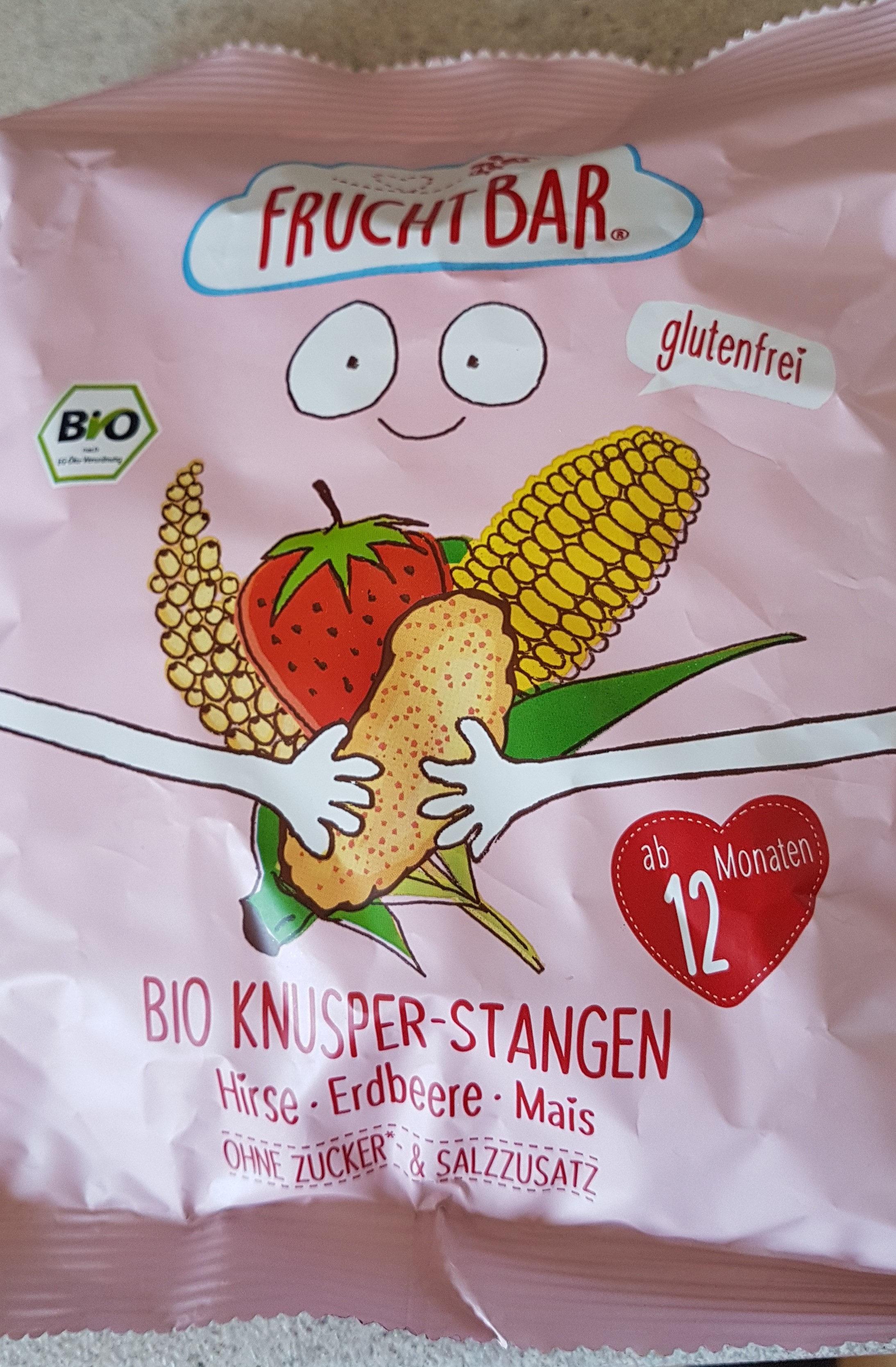 Bio-Knusper-Stangen Hirse-Erdbeere-Mais - Product - de