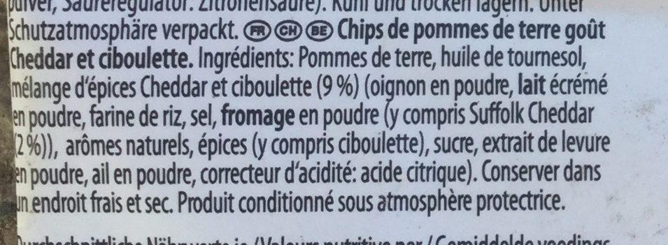 No 4 - Suffolk cheddar  chives - Ingrédients - fr