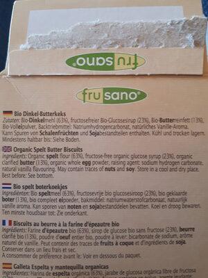 Bio Dinkel Butterkeks - Ingrédients - de