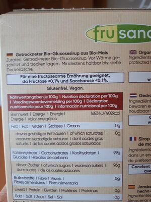 Jarabe de glucosa deshidratado - Ingrédients