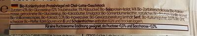 Bio-Proteinriegel Chai-Latte - Ingrédients - de