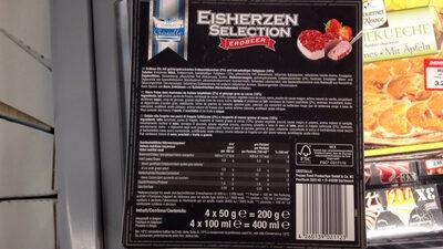 Glace fraise (Cristallo) - Nutrition facts - fr