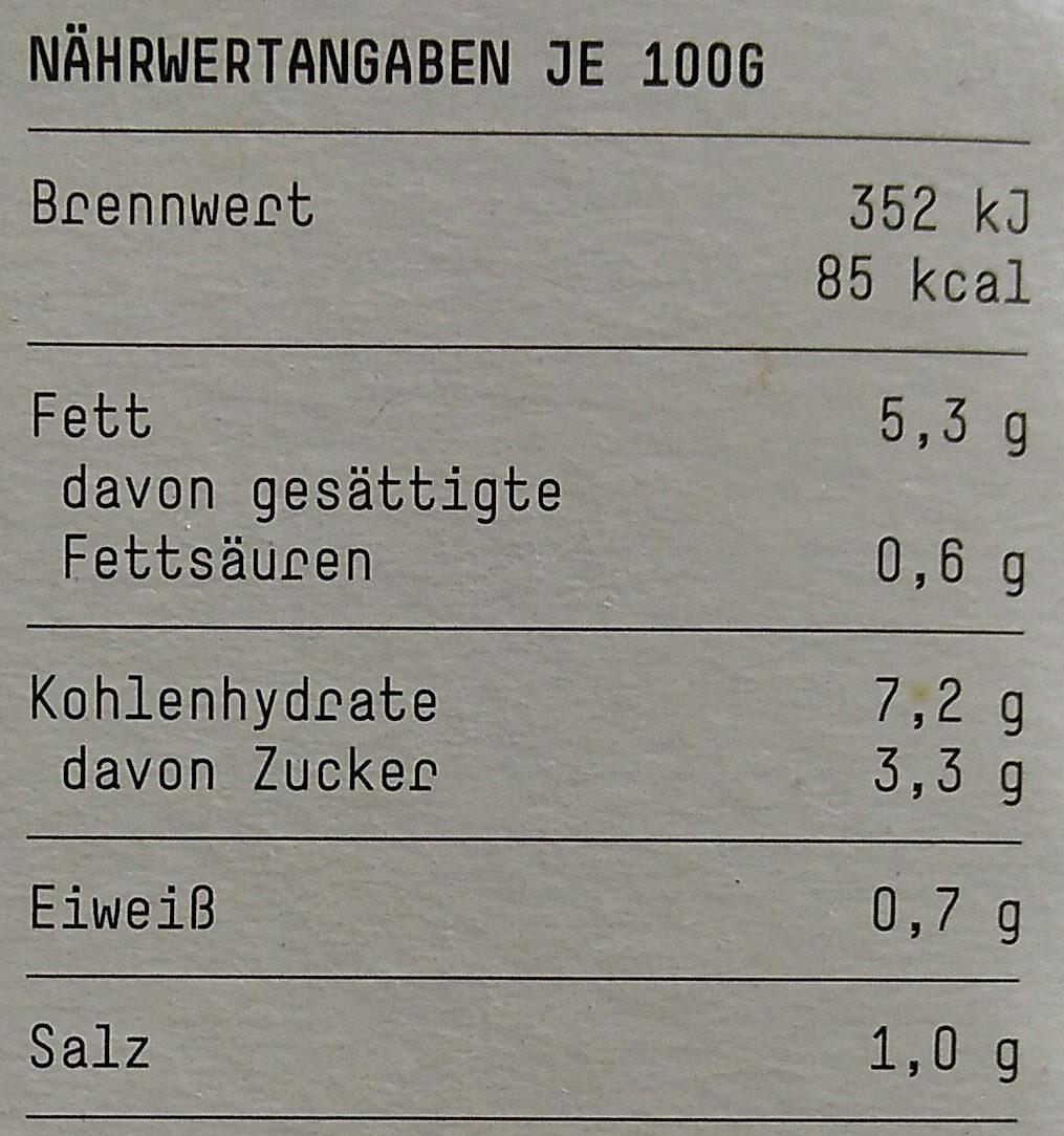 Möhren-Apfelsalat mit Ingwer - Nutrition facts