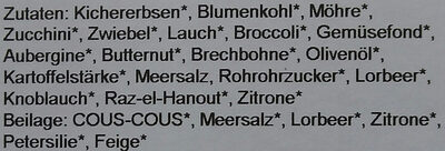 Kichererbsen-Gemüseragout mit Raz-el-Hanout - Ingredients - de
