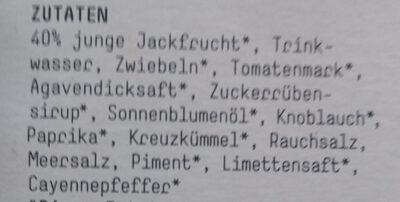Pulled Jackfruit BBQ-Style - Ingrediënten - de