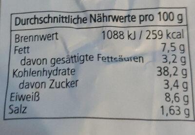 Pizza-Brötchen Mozzarella-Kräuterbutter - Nutrition facts
