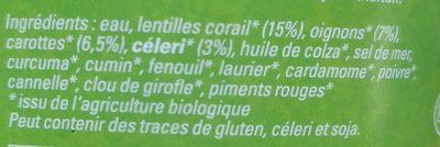 Daal - Indisches Linsengericht - Ingredients - fr