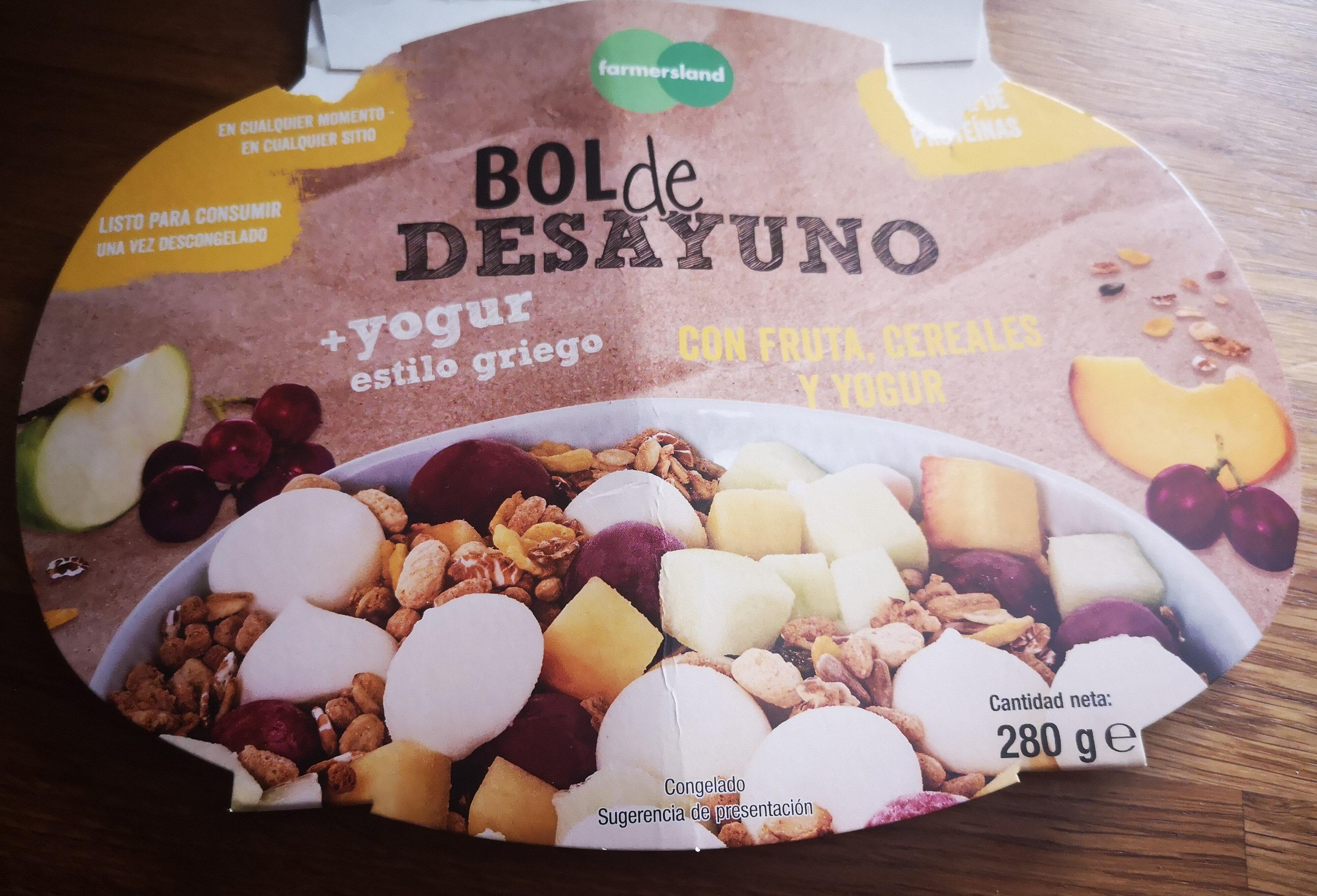 Bol de desayuno +yogur estilo griego - Producte