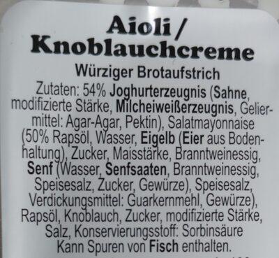 Aioli knoblauch creme - 2