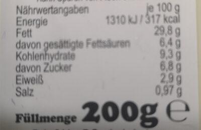 Aioli Knoblauch Creme - Informations nutritionnelles - de