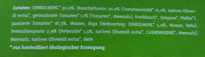 Bio Pizza Bruschetta - Ingredients