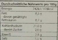 Reibekuchen - Informations nutritionnelles - fr