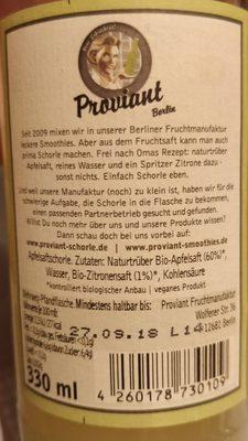 Proviant Apfelschorle - Ingrédients - fr