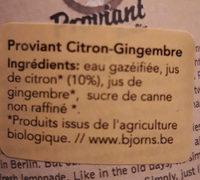 Proviant Limo - Ingrediënten