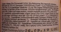 Proviant Limo - Voedingswaarden
