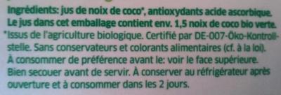 Coco Juice - Ingrediënten - fr