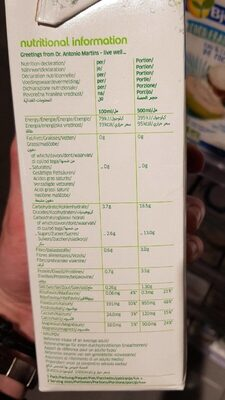 Coco juice - Nutrition facts - fr