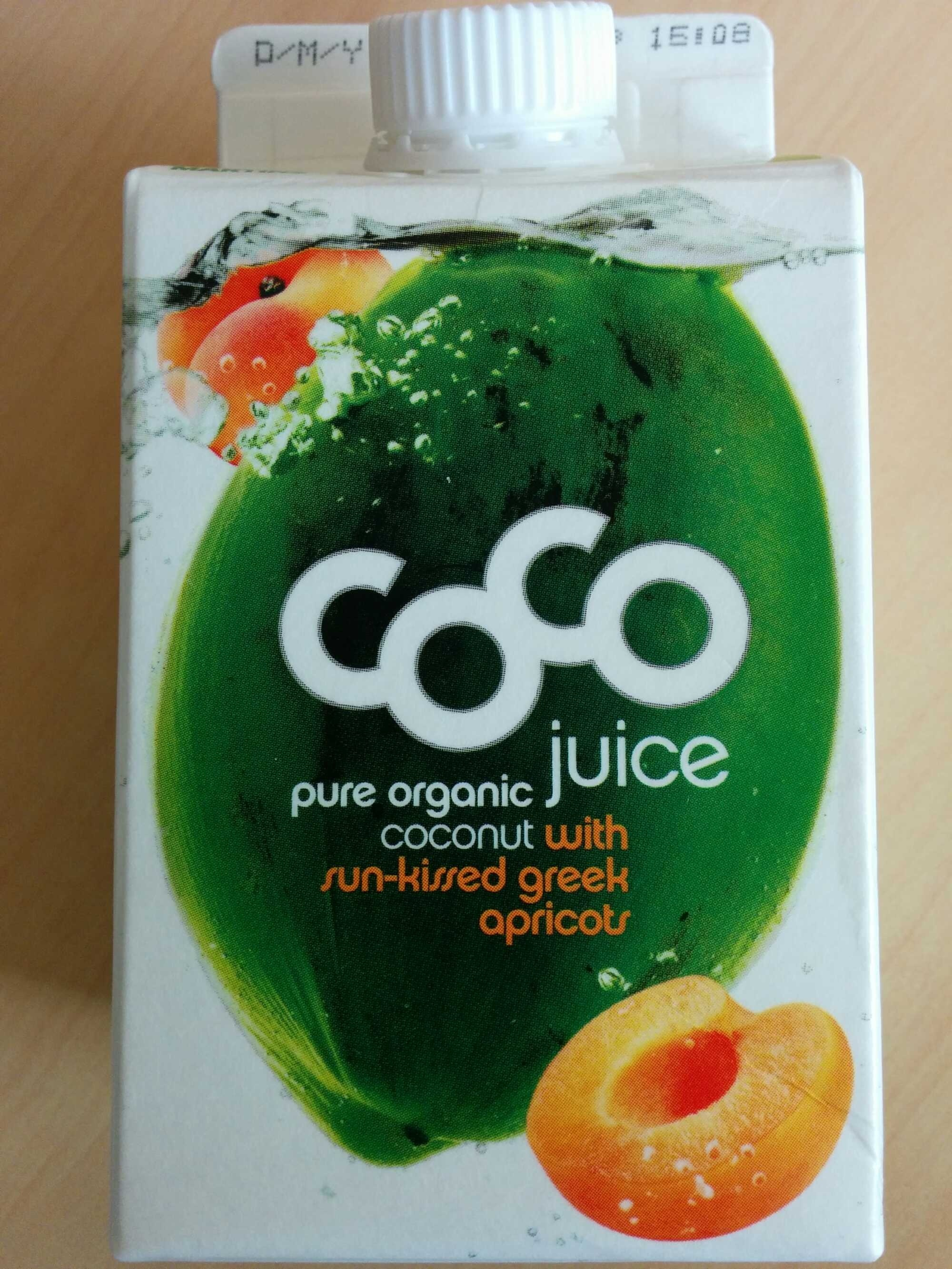 Coco juice pure organic coconut apricots - Product