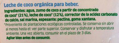 Coco milk - Ingrediënten - fr