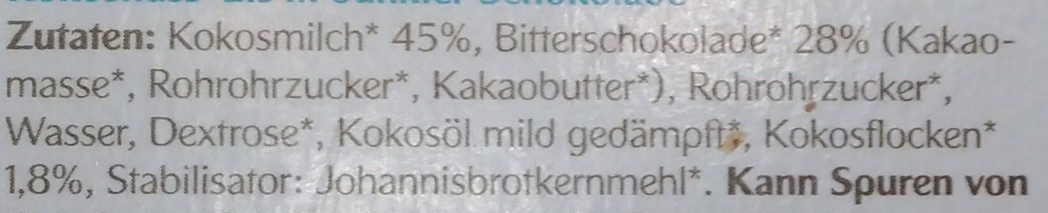 Feinste Eis-Pralinen Kokosnuss - Ingredients - de