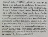 Berrywhitechoc - Ingrediënten - fr
