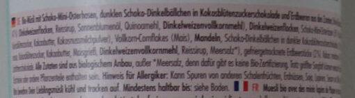 Oster Muesli - Ingredients - de