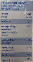 Hafer nilk - Voedingswaarden - de