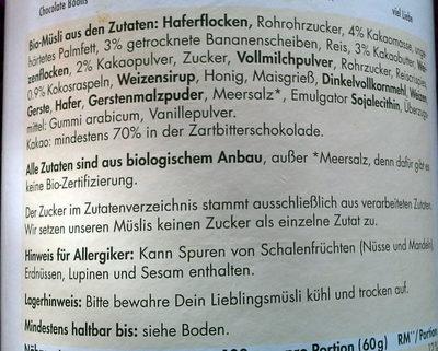 Mymuesli Schoko-Banane - Ingrédients - de