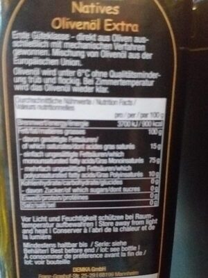 Sizma zeytinyagi - Informazioni nutrizionali - fr