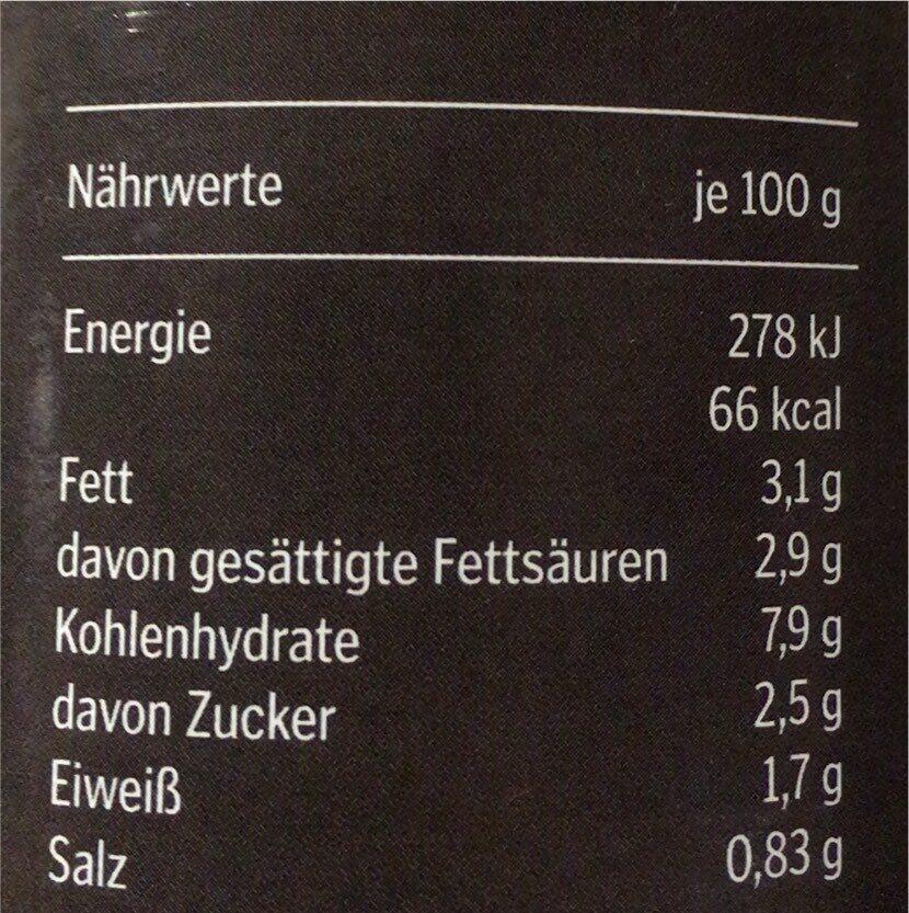 Cremige süsskartoffel suppe mit kokos & ingwer - Voedingswaarden - en