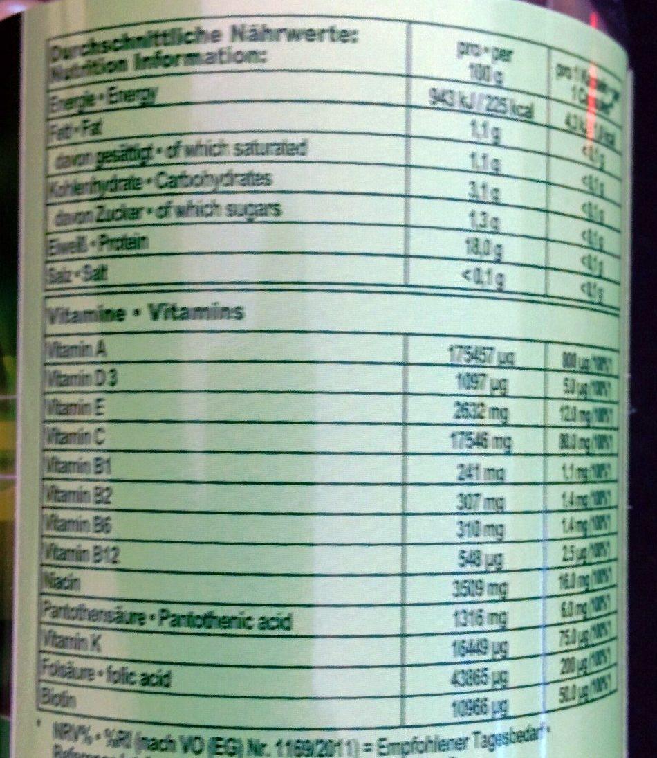 Multi Vitamin - Informations nutritionnelles - de