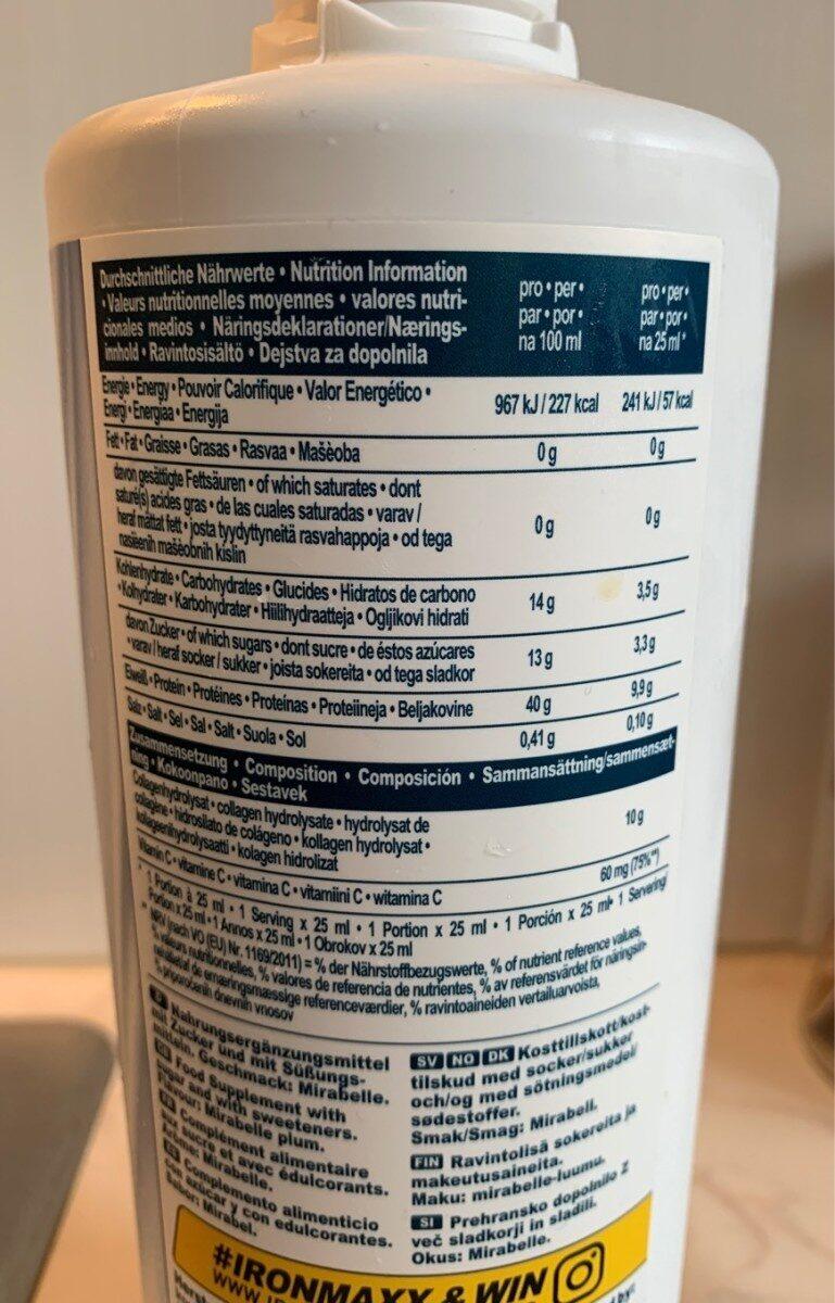 Ironmaxx Collagen Professional Liquid 1000ML - Informations nutritionnelles - fr
