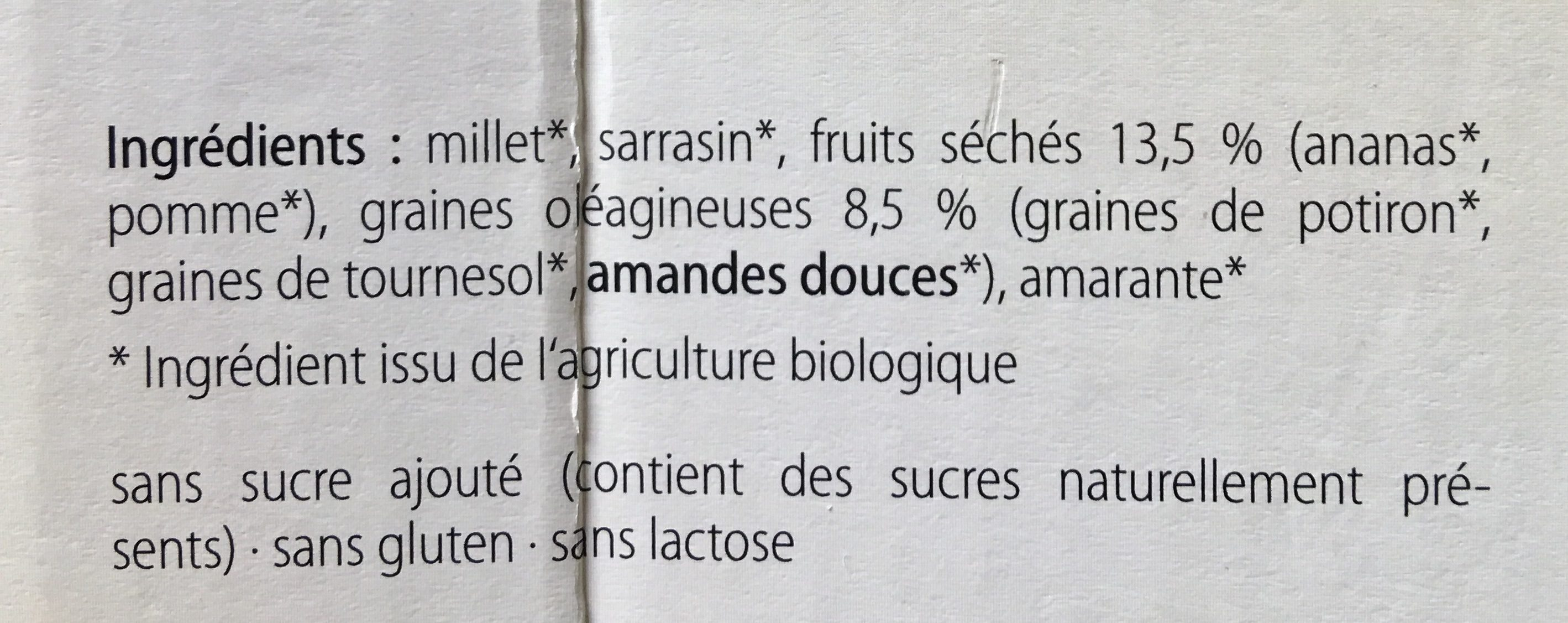 Alcamatin Bio - Ingredients