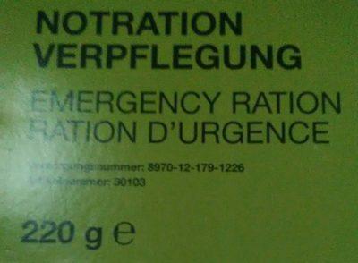 Ration d'Urgence - Produkt