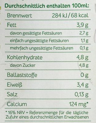 H-Vollmilch 3,8% - Nährwertangaben - de