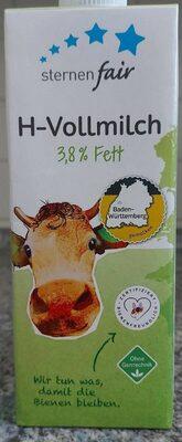 Sternen fair H-Vollmilch 3,8% Fett - Produkt - de