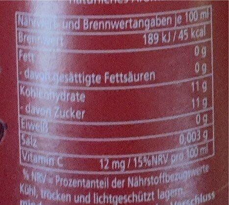 Cola für Kids - Valori nutrizionali - de