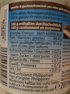 Graisse De Coco - Ingrediënten