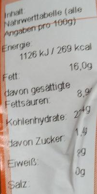 Kaisersemmel Salami - Voedingswaarden