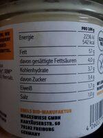 Emils Feinkost Vegane Mayo,125 GR Glas - Voedingswaarden - de