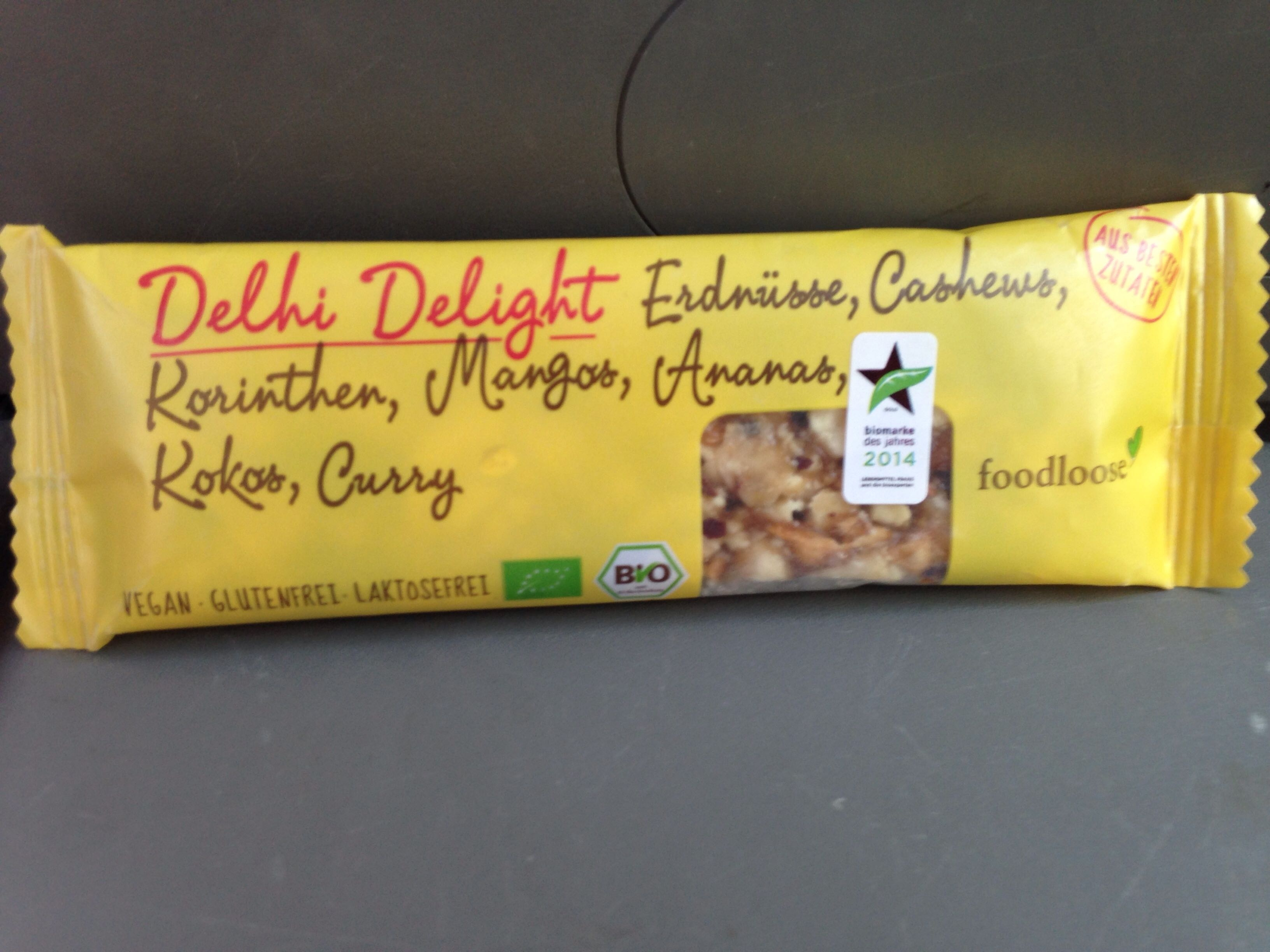 Delhi Delight Bio-Nussriegel - Produit - fr