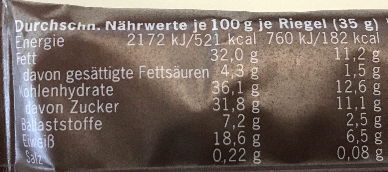Frisco Crisp Bio-Nussriegel - Informations nutritionnelles - fr