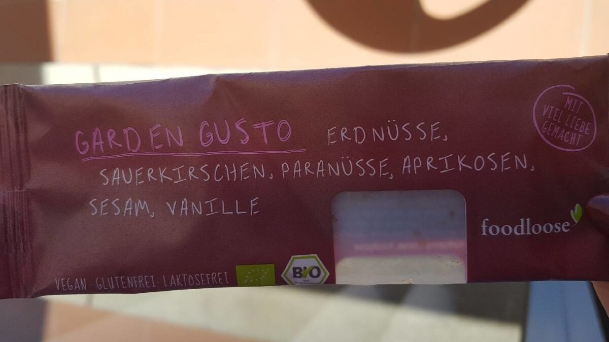 Foodloose Nussriegel Garden Gusto, 35 GR Stück - Voedingswaarden - de