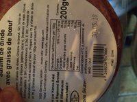 Salami de dinde et bœuf - Ingredients