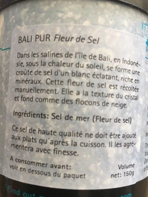 Bali Pur Fleur De Sel Lotao 150G - Inhaltsstoffe