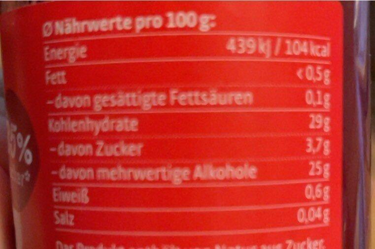 Xucker marmelade - Informations nutritionnelles - de