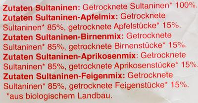 """""""Rosinchen"""" Fruchtmix - Ingredients - de"""